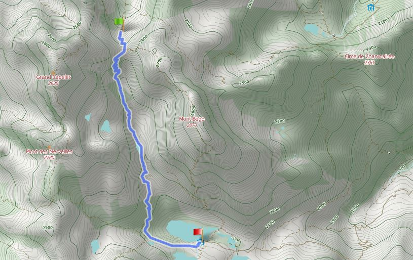 Route Baise de Valmasque - Refuge de Merveilles