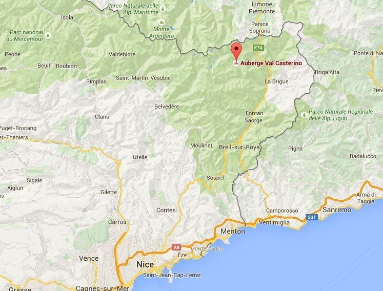 Situering van Castérino op de kaart