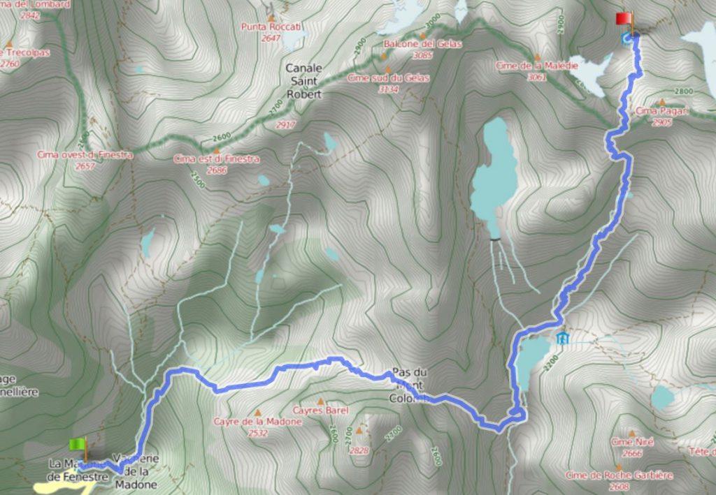 Klik op de kaart om het gedetailleerde traject te raadplegen via de website www.gpsies.com.